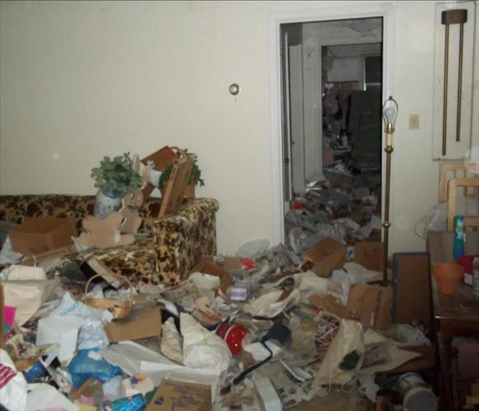 Hoarder Clean up Before