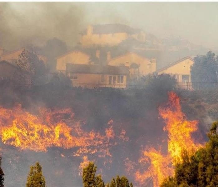 wildfire in California heavy soot and smoke damage